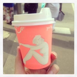 Lovely latte` lady